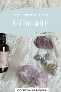 Top 5 Calming Crystals to help you sleep. Crystals can help to bring calm and peaceful energy into the bedroom to promote deep sleep. You can also incorporate relaxing crystal rituals at bedtime to promote deep and restful sleep Chakra Crystals, Chakra Stones, Crystals And Gemstones, Stones And Crystals, Healing Crystals, Crystal Magic, Crystal Grid, Crystals For Sleep, Crystal For Anxiety
