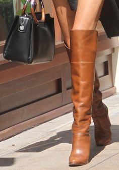 Vilailuck Teigen Shops With Daughter Chrissy at The Grove in Hollywood Riding Boot Outfits, Riding Boots, Fashion Heels, Fashion Boots, High Heel Boots, Bootie Boots, Beige Boots, Walking In Heels, Womens Designer Bags
