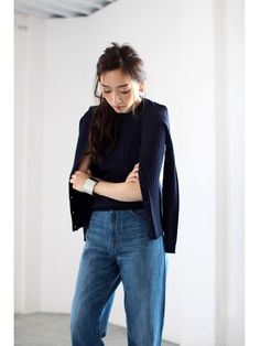 AZUL by moussy 【UVカット】【AZUL by moussy】12GワイドリブVネック長袖ニットカーデ 4,309円(税込) 69%OFF 1,296円(税込) JELLY2016年8月号掲載