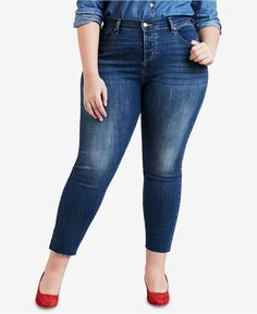 79594f0cb6e Trendy Plus Size Cuffed Ankle Jeans