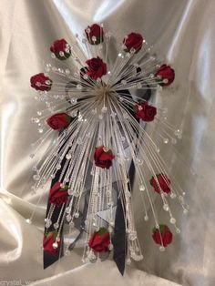 Swarovski Elements crystal & Rose fall cascade wedding bouquet bridal sizes in Home Furniture & DIY Wedding Supplies Flowers Petals & Garlands Bouquet Bling, Crystal Bouquet, Crystal Rose, Crystal Wedding, Boquet, Cascading Wedding Bouquets, Rose Wedding Bouquet, Bride Bouquets, Rose Bouquet