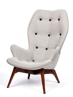 Grant Featherston; #W180 High Back Chair, 1953.