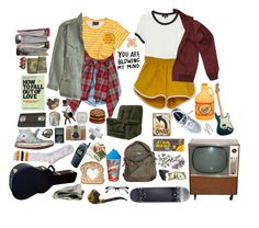 """""""We Sure Are Cute For Two Ugly People"""" by sparkling-oceans ❤ liked on Polyvore featuring Pieces, Opening Ceremony, Nili Lotan, She's So, A.P.C., Fred Perry, New Balance, Dot & Bo, Flash Furniture and Lomography"""