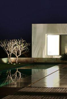 modern sf house pool area lighting design by Studio Guilherme Torres