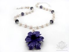 Rainy Morning Bloom  freshwater pearl and by OohlalaBeadtique, $28.00