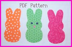 downloadable bunny pattern