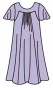 Выкройки платьев: летнее платье для полных без рукавов