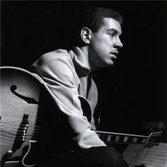 Jazz guitarist Kenny Burrell, during his Midnight Blue session, Englewood Cliffs, NJ, January 1963 - photo Francis Wolff Jazz Artists, Jazz Musicians, Music Artists, Kenny Burrell Midnight Blue, Blue Note Jazz, Francis Wolff, Jazz Cat, All About Jazz, Bless The Child