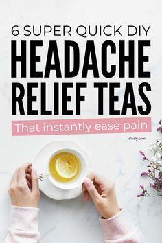 Sinus Headache Remedies, Natural Headache Relief, Natural Remedies For Migraines, Herbal Remedies, Instant Headache Relief, Tension Headache Relief, Teas For Headaches, Cluster Headaches Relief
