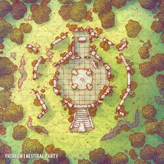Tagged with fantasy, dnd, dungeons and dragons, battlemaps; Dungeons and Dumps: My Battle Map Collection Dungeons And Dragons, Dnd Dragons, Fantasy City Map, Forest Map, Pathfinder Maps, Circle Map, Pen & Paper, Rpg Map, Adventure Map