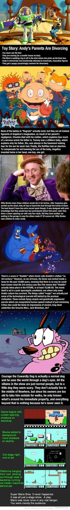 I know not all of these are Disney but I found the Aladdin one an interesting little twist
