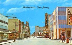 Hackensack NJ Fox Theatre Old Cars