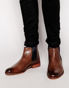$265, Brown Leather Chelsea Boots: Ted Baker Camroon Leather Chelsea Boot. Sold by Asos. Click for more info: https://lookastic.com/men/shop_items/143324/redirect