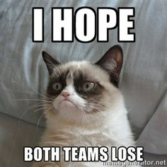 I hope Both teams lose | Grumpy cat good