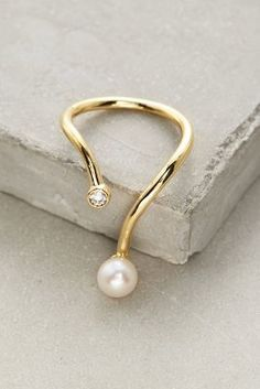 Gold Philosophy Dewy Pearl Ring #anthrofave