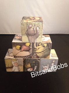 Where the wild things are nursery blocks by Bitsandbobs2015 on Etsy https://www.etsy.com/listing/464881875/where-the-wild-things-are-nursery-blocks