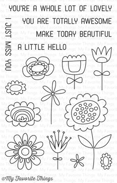 Springtime Blooms stamp set #mftstamps