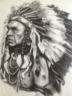 Native American Pencil Drawings | Native American Indian Chief