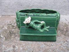vintage ceramic elf planter mid century kitsch by rivertownvintage