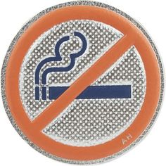 ANYA HINDMARCH No smoking leather sticker (1 465 UAH) ❤ liked on Polyvore featuring home, home decor, office accessories, silver metallic capra, leather sticker, anya hindmarch, leather office accessories and anya hindmarch stickers