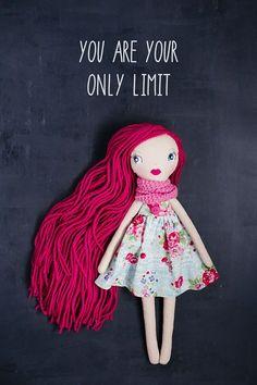Emma – hecha a mano muñeca OOAK doll art, muñeca de trapo, muñeca de trapo, reliquia, muñeca rellena, muñeca de colección