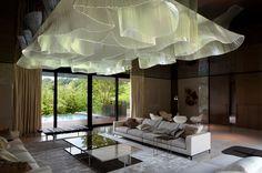 Nikolas Weinstein  Glass 'fabric' ceiling installation