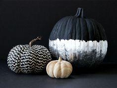No-Carve Chalkboard Paint & Silver Leaf Pumpkin