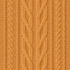 (El patrón y el esquema de la labor de punto) Cable Knitting Patterns, Knitting Charts, Knitting Stitches, Knit Patterns, Stitch Patterns, How To Purl Knit, Stitch Design, Learn To Crochet, Fabric