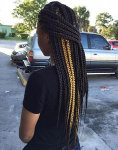 20 Best Looks Featuring Big Box Braids and Their Close-Up Details – zopf Half Braided Hairstyles, Sporty Hairstyles, Try On Hairstyles, Wavy Bob Hairstyles, Box Braids Hairstyles, Trending Hairstyles, Small Box Braids, Short Box Braids, Blonde Box Braids