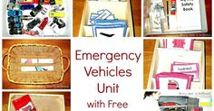 Emergency vehicle themed learning activities and free printables.