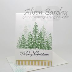 Gothdove Designs - Alison Barclay Stampin' Up! ® Australia : Stampin' Up! Australia - Stampin' Up! Lovely as a Tree Christmas Card