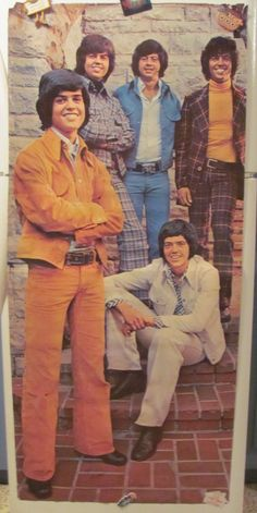 "The Osmonds 1972 5 Feet Tall x 2 Feet 2 3 4"" Wide Autographed Wall Poster 
