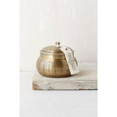 Moroccan Embossed Metal Candle ($26) ❤ liked on Polyvore featuring home, home decor, candles & candleholders, moon sparkle, orange home decor, moroccan candle, fragrance candles, orange candle and grapes home decor