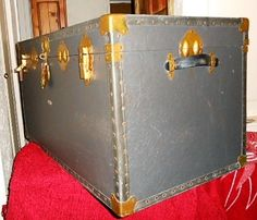 Other Antiques & Collectables - Vintage Overpond Blue-Grey Travelling Trunk for sale in Johannesburg Trunks For Sale, Blue Grey, Travelling, Antiques, Vintage, Decor, Antiquities, Antique, Decoration