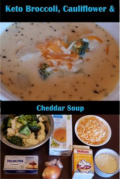 This past month has been the soup month for us! We loved this creamy Broccoli, Cauliflower & Cheddar Soup! Cauliflower Cheddar Soup, Broccoli Cauliflower, Low Carb Recipes, Healthy Recipes, Lchf Diet, Health And Nutrition, Meal Prep, Food Porn, Favorite Recipes