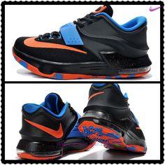 scarpe online prezzi bassi KDVII-044 Nike KD 7(VII) Nero Arancione Blu