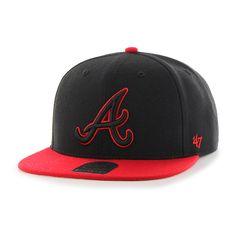 Atlanta Braves No Shot Two Tone Captain Black 47 Brand Adjustable Hat -  Detroit Game Gear 09abeb5bf