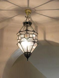 Clear Glass Moroccan Iron Lantern
