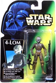 STAR WARS : Costumes and Toys : Star Wars Action Figure - 4-LOM with Blaster Pistol and Blaster Rifle - POTFG
