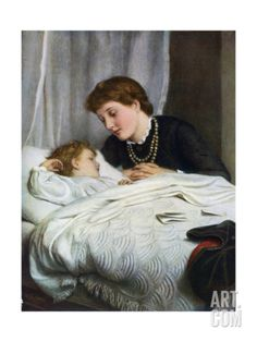 Mother's Darling, 1884 Giclee Print by Joseph Clark at Art.com Painting For Kids, Painting & Drawing, Art Pictures, Art Images, Kids Tumblr, Clark Art, Tate Gallery, Sick Kids, Vintage Art Prints