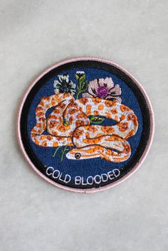 Cold Blooded Iron-On Patch