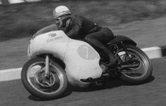 Grand Prix rider Mike Hailwood on a Matchless