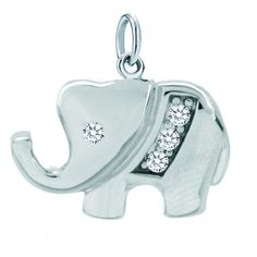 Sterling Silver Jewelry - 925 sterling silver lucky elephant animal clasp charm Image.#Lucky #Jewelry #LuckyJewelry