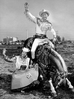 Roy Rogers and Dale Evans, and Trigger.