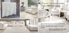 All the flokati rugs we are selling are handmade. They are made of 100% wool. These rugs are hand woven from the best quality wool. Flokati rug is Hand-Woven, made out of 100% wool. more on www.woollyworld.com