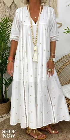Summer Dresses Online, Dress Online, Casual Dresses, Fashion Dresses, Bohemian Mode, Trendy Clothes For Women, Fashion Sewing, Minimal Fashion, Lazy Outfits
