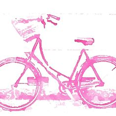 Having introduced all my filter apps, I now introduce the fun of combining them. This is a wicker basketed bike in Oslo which I've run through Waterlogue then Popsicolor. Pink Bike, Pink Nation, Oslo, Girly Things, Norway, Filters, Street Art, Instagram Posts, Artwork