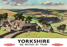 This Yorkshire See Britain by Train Art Print Art Print is created using state of the art, industry leading Digital printers. The result - a stunning reproduction at an affordable price. Yorkshire See Britain by Train Posters Uk, Train Posters, Railway Posters, Cool Posters, Poster Prints, Art Prints, Travel English, British Travel, Train Art