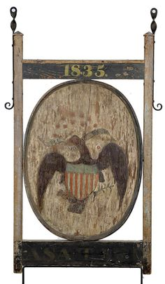 Double-Sided and Dated Tavern Sign with U.S. Eagle, - Cowan's Auctions