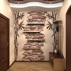 Decorative stacked stones wall with high quality. You could have all this right in your house place (Artistic Stacked Stone Walls to Catch Your Attention). Stacked Stone Walls, Stacked Stones, Wall Design, House Design, Stone Interior, Light Colors, Color Inspiration, Living Room Designs, Furniture